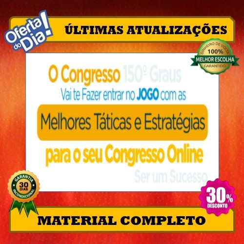 Curso Congresso 150 Graus + 4 Mil Brindes